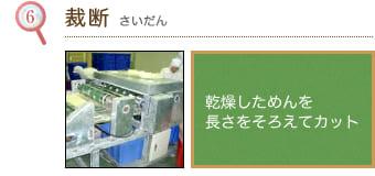 (6)裁断 ビーフンに最適なお米を選び、 精米機にかけます。