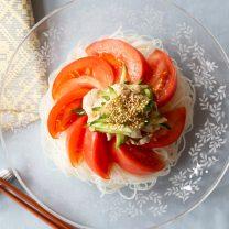 豚肉とフレッシュ野菜の冷製ビーフン
