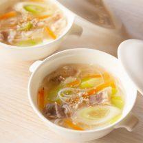 豚肉とねぎの塩スープビーフン