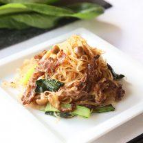 小松菜を楽しむ最高レシピ!焼ビーフンを活かした中華レシピをご紹介