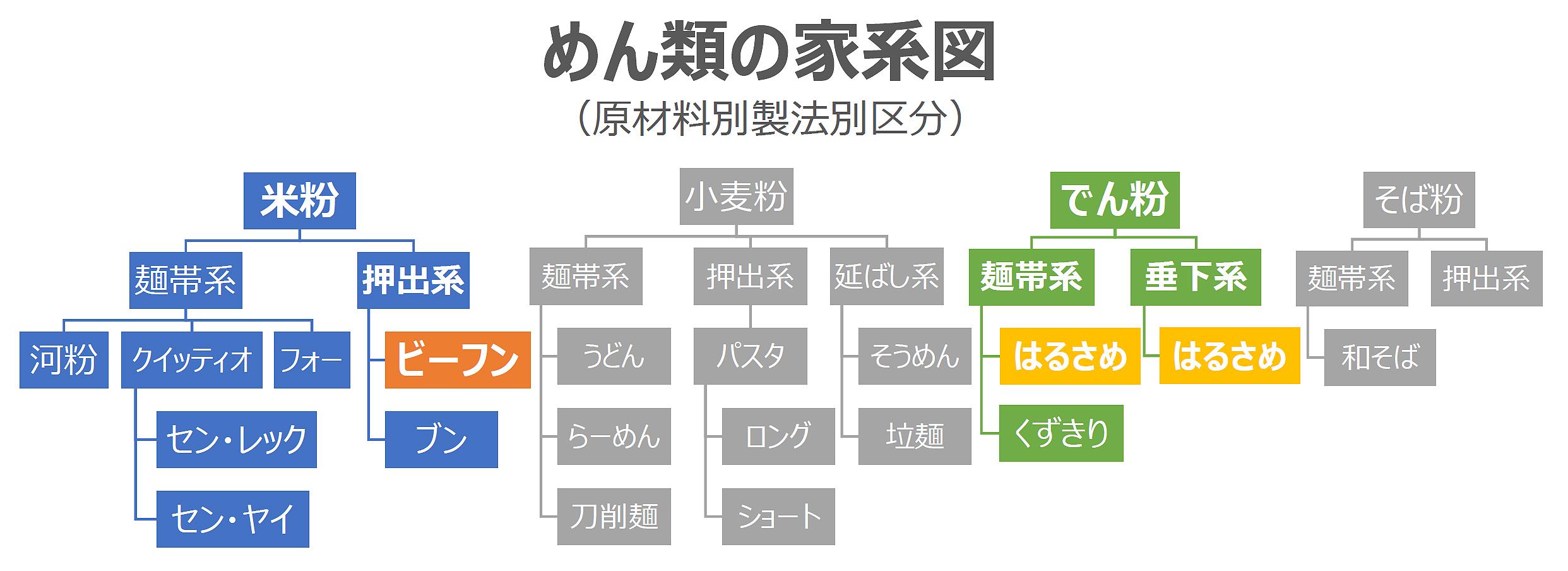 紹介!めん類の家系図!!