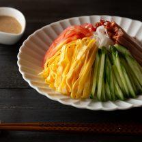 胡麻ダレで作る簡単ビーフン!冷やし中華風にさっぱりに