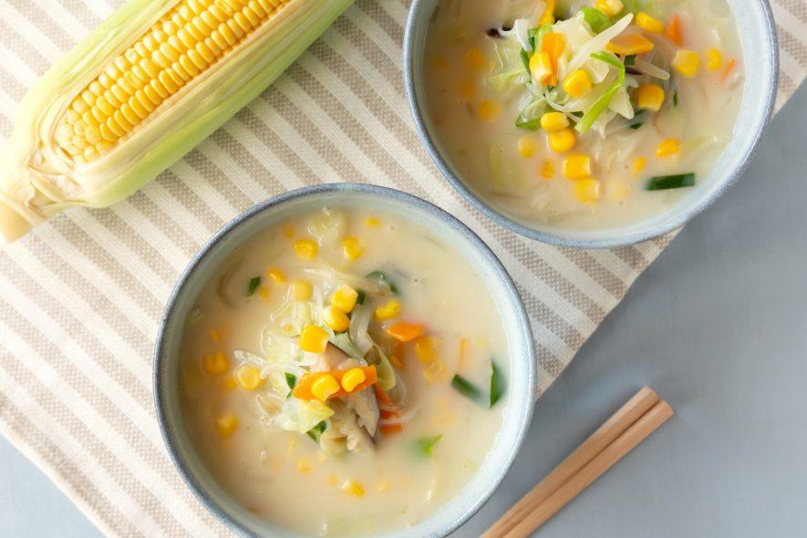 豆乳でまろやか中華スープのコーンビーフン