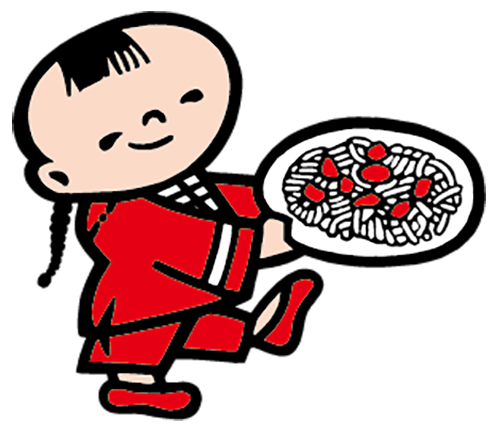 ●名前:ケンミン坊や ●誕生:1965年 好きな食ぺ物:ビーフン ●特技:神業的速さでおいしいビーフンをさめないうちに運ぶ ●コメント:どんなにお皿が大きくたって大丈夫! 今日も元気に熱々のビーフンをみんなに届けるよ♪