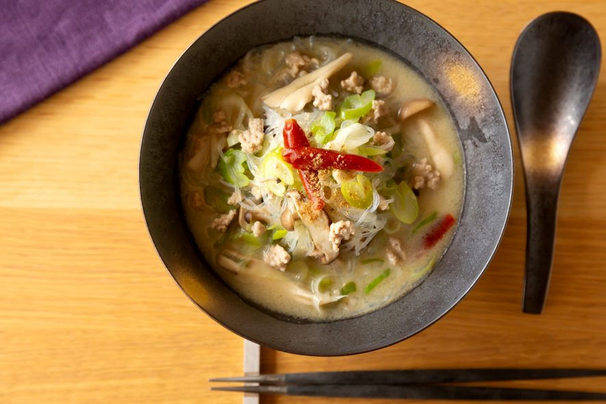 グルテンフリー!さっぱり白麻婆春雨スープ