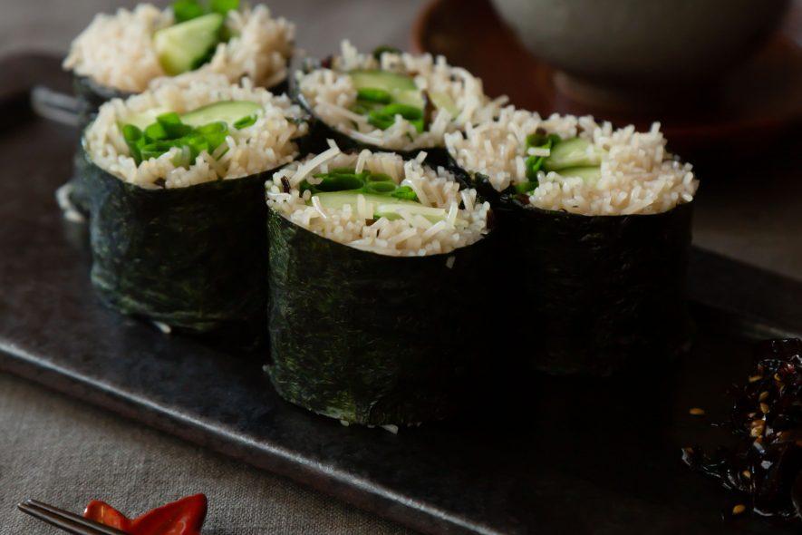 ビーフンのそば寿司風 巻き寿司で和パーティー