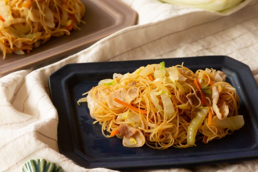 冬野菜と生姜のお酢でさっぱり焼ビーフン