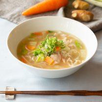 からだぽかぽか温まる生姜と冬野菜のフォー