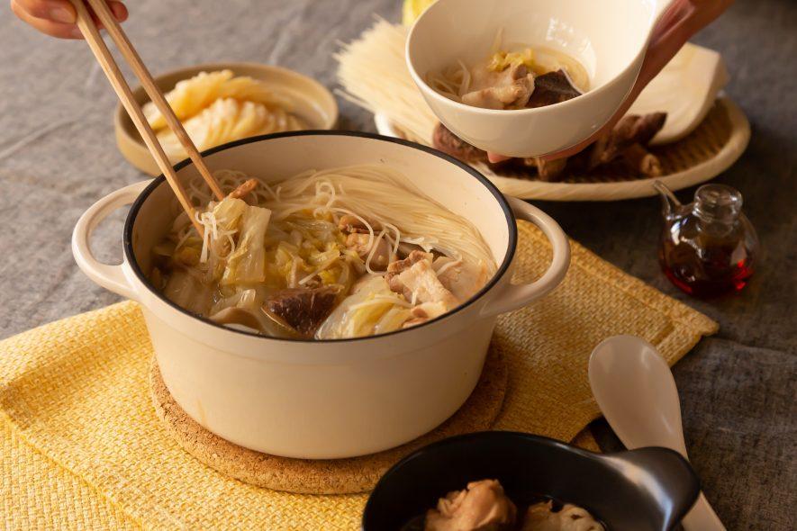 ビーフンでつくる扁炉(ピェンロー)鍋