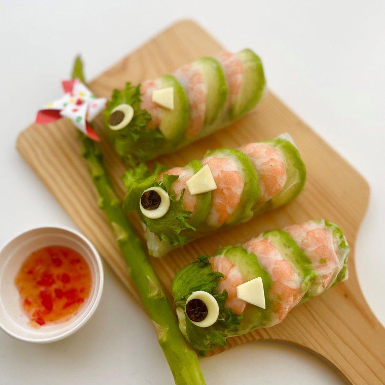 ハッピー生春巻き 鯉のぼりサラダロール