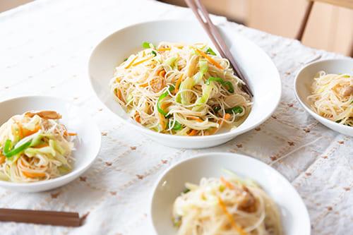 低カロリーで栄養満点の焼きビーフン!野菜をたっぷり使った低GIレシピ
