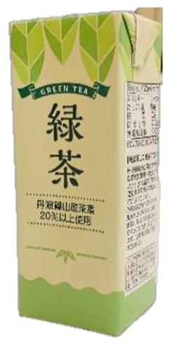紙パック緑茶飲料